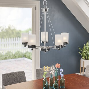 Kincer 5 Light Shaded Chandelier