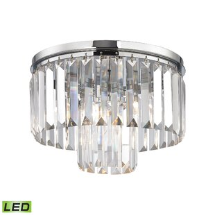 Willa Arlo Interiors Springfield 1-Light Flush Mount