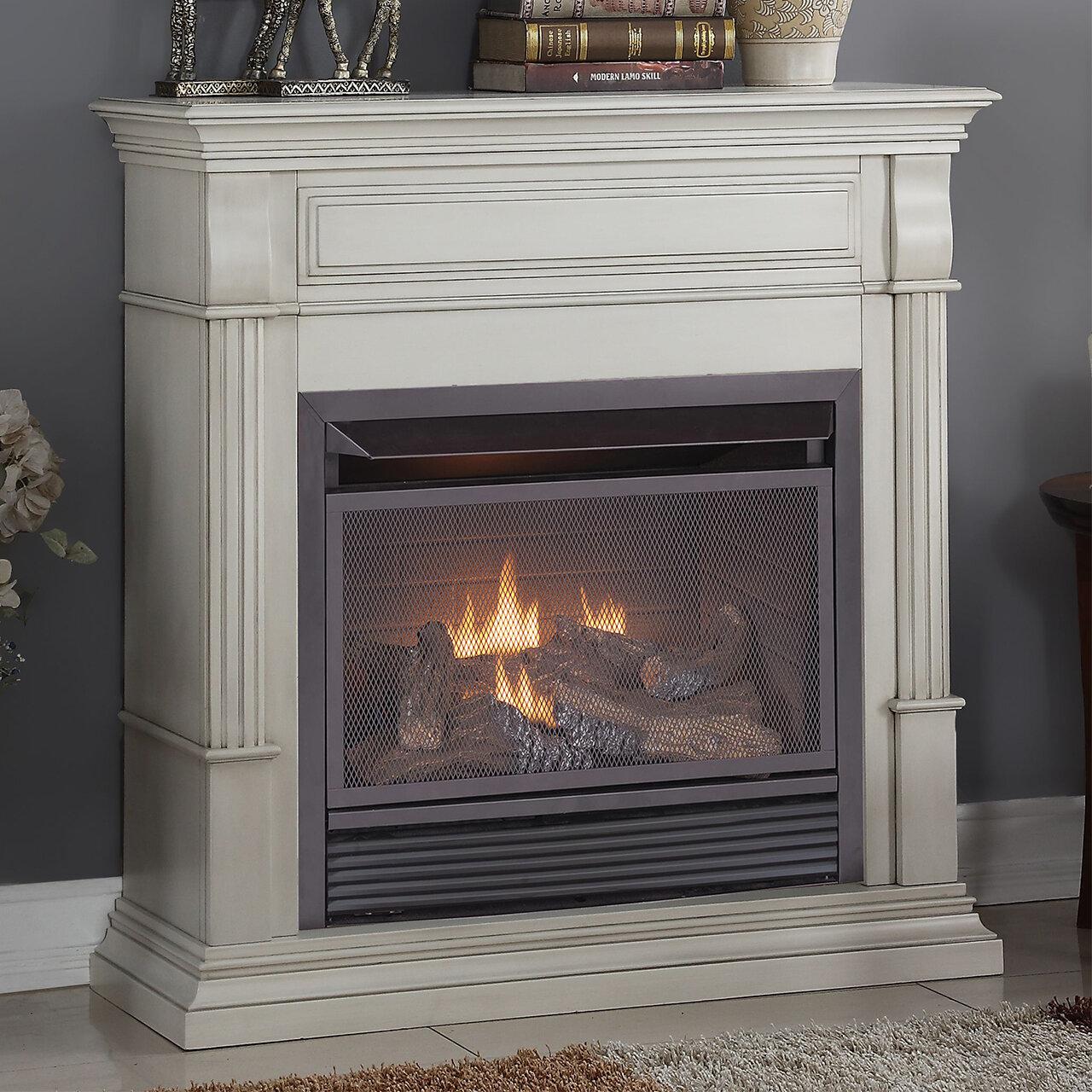 duluth forge vent free natural gas propane fireplace reviews wayfair rh wayfair com propane ventless fireplace with mantel ventless propane fireplaces safe