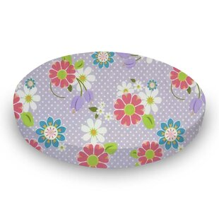 Top Reviews Floral Lavender Dot Fitted Crib Sheet By Sheetworld