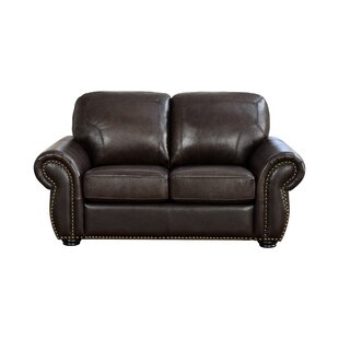 Shop Rosie Leather Loveseat by Darby Home Co
