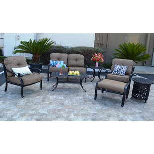 Nola 7 Piece Sunbrella Sofa Set with Cushions