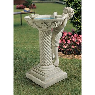Design Toscano Summer's Splash Statue Birdbath