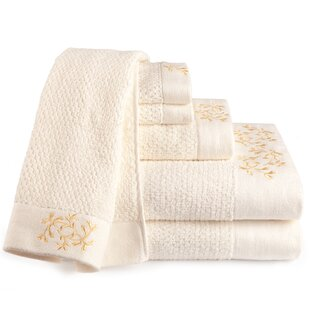 Dourdain 6 Piece 100% Cotton Towel Set