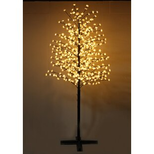 Hi-Line Gift Ltd. Outdoor Cherry Blossom Tree with Flowers and 488 LED Lights