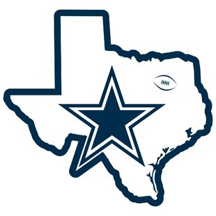 NFL Dallas Cowboys Home State Magnet By Siskiyou Products