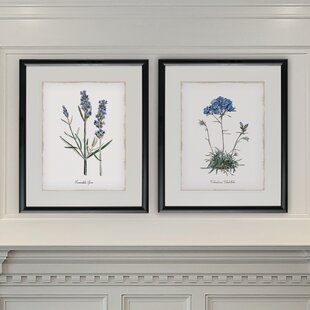 3e04d900c51  Lavender  2 Piece Framed Graphic Art Print Set