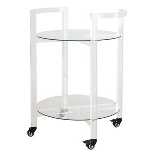 Slattery Acrylic Bar Cart by Orren Ellis