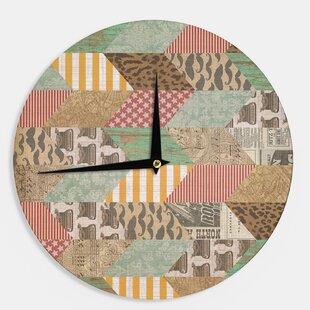 Heidi Jennings 'Hodge Podge' 12 Wall Clock by East Urban Home