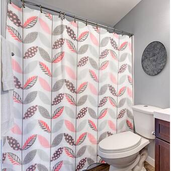 15 Piece Bathroom Set 12 Hooks 1 Shower Curtain 2 Memory Foam Bath Rugs
