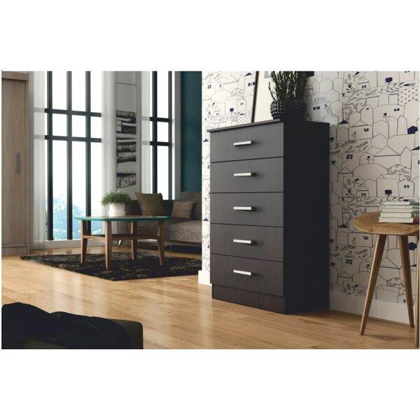 Ebern Designs Comstock 5 Chest Dresser & Reviews by Ebern Designs