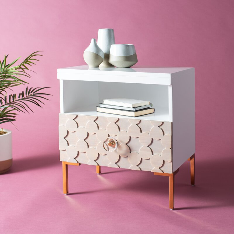 Everly Quinn Merced End Table With Storage Wayfair