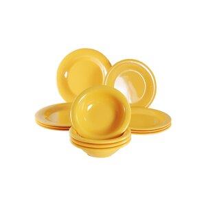 Jeri Melamine 12 Piece Dinnerware Set, Service for 4