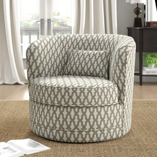 Dmitri Swivel Barrel Chair by Alcott Hill