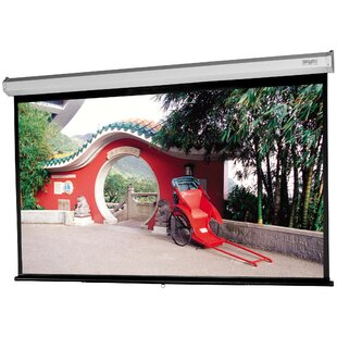 Best Model C with CSR Matte White 100 Diagonal Manual Projection Screen By Da-Lite