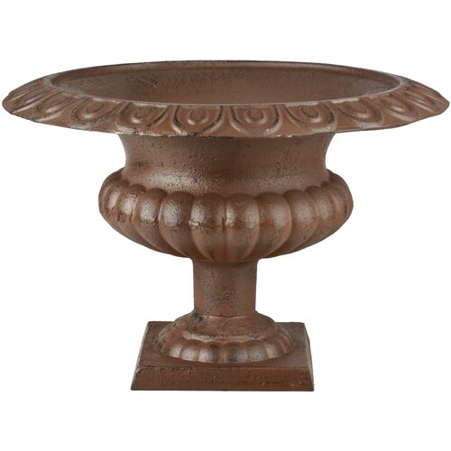 Cora Metal Urn Planter ClassicLiving Colour: Brown, Size: 30