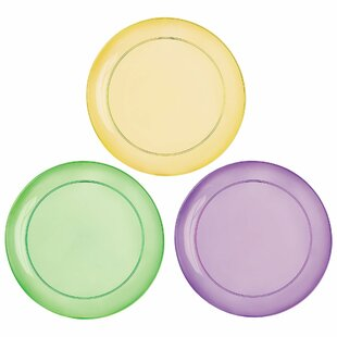 Mardi Gras Plastic Disposable Dessert Plate (Set of 24)