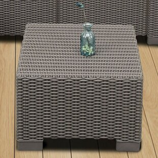 Filey Premium Weather Resistant Outdoor Wicker Pouf Ottoman