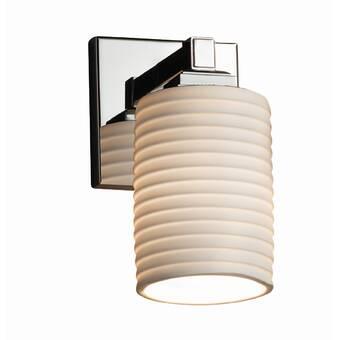 Ebern Designs Matthau 1 Light Brushed Nickel Armed Sconce Wayfair