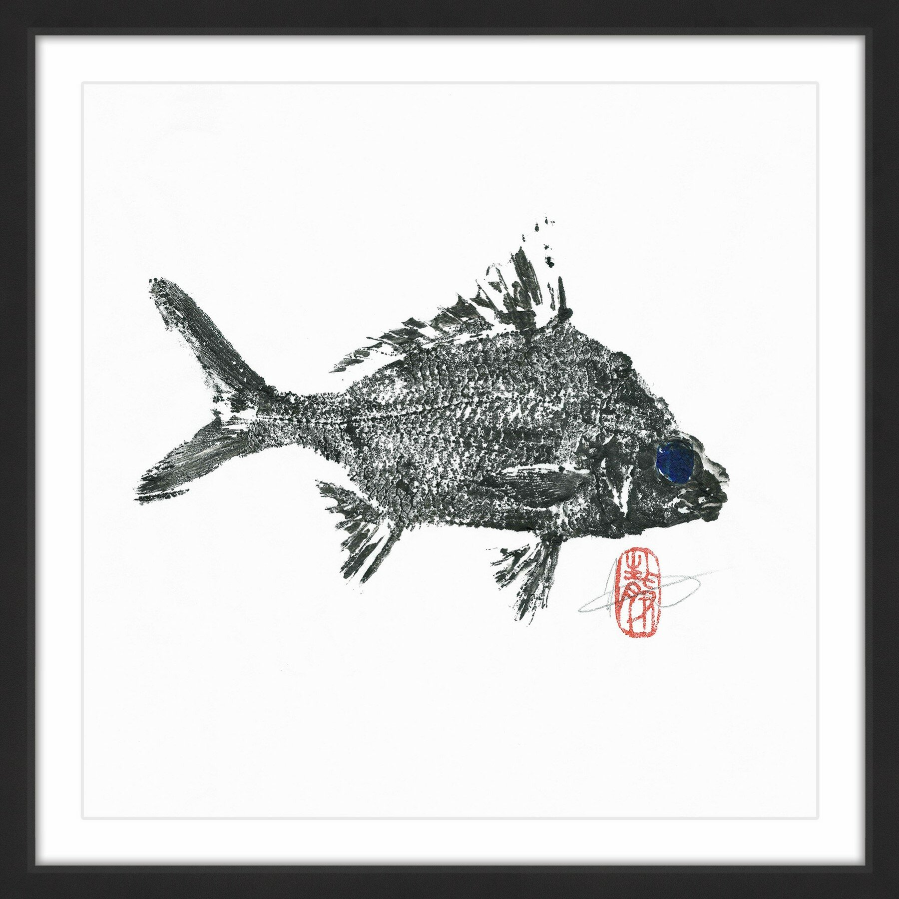 Marmont Hill \'Small Silver Bream\' by Andrew Clay Framed Art Print ...