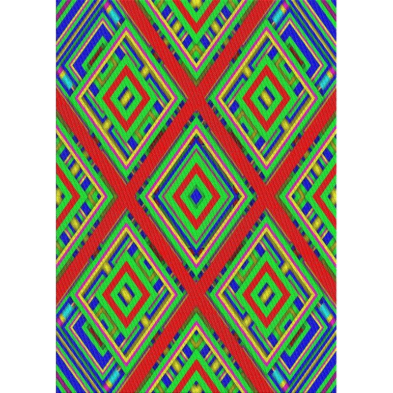 East Urban Home Power Loom Green Red Rug Wayfair