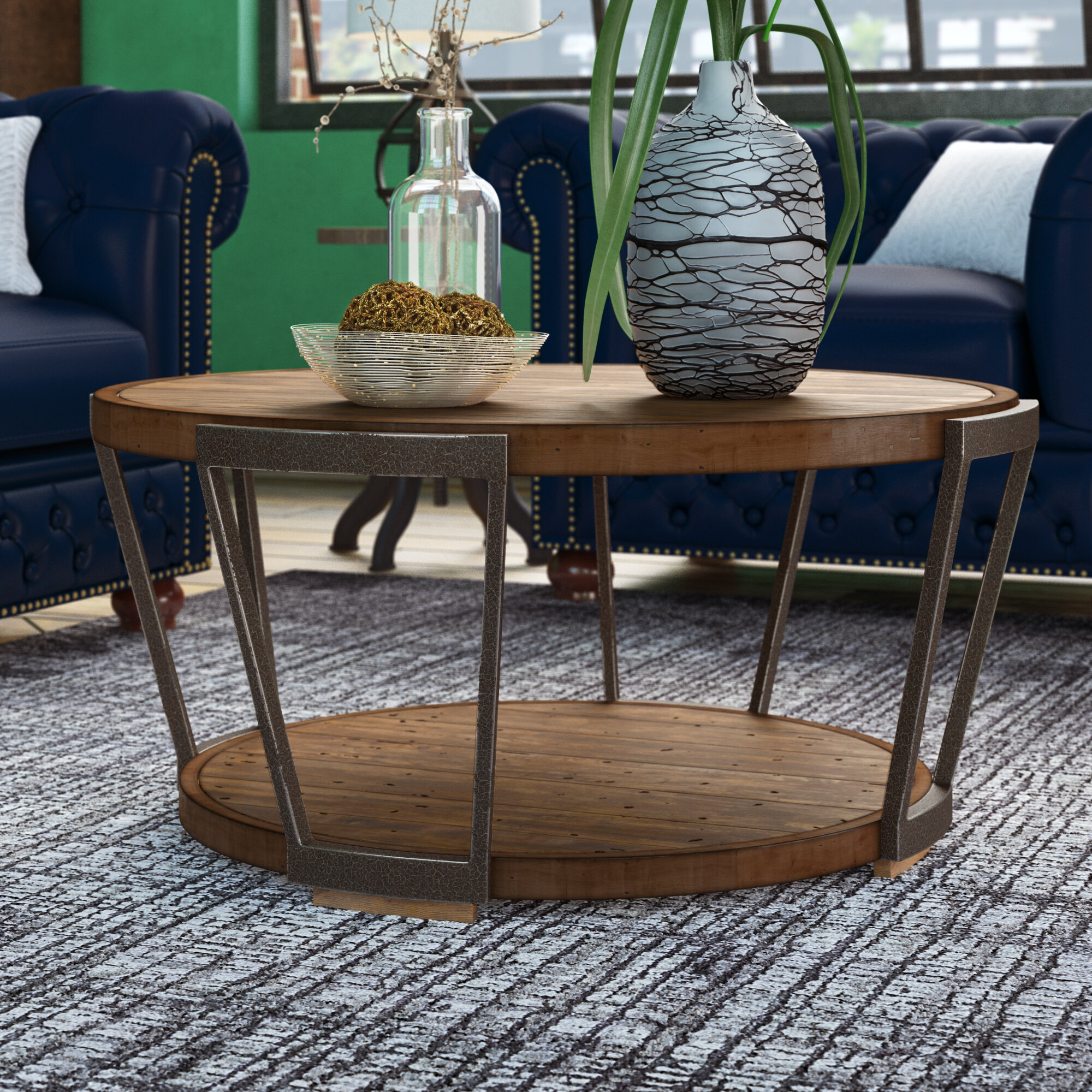 Round Rustic Coffee Table Sets You Ll Love In 2021 Wayfair