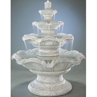 Henri Studio Tiered Concrete Quattro Classic Waterfall Fountain