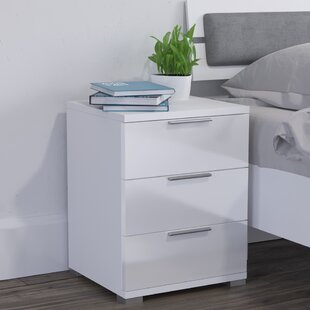 Vidrine 3 Drawer Bedside Table By 17 Stories