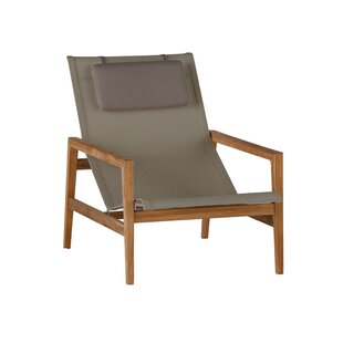 Summer Classics Coast Teak Patio Chair with Cushions
