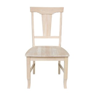 Panel Back Solid Wood Dining Chair (Set of 2)