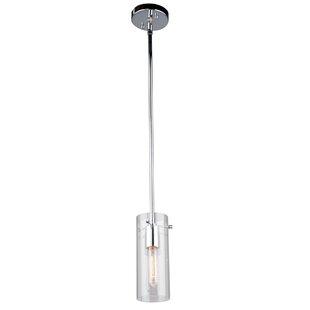 Aqunita 1-Light Cylinder Pendant by Orren Ellis