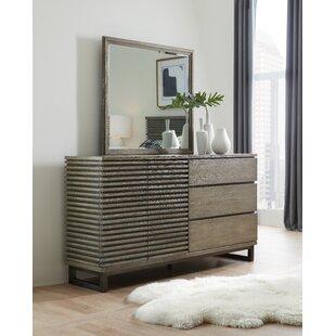 Annex 3 Drawer Combo Dresser with Mirror