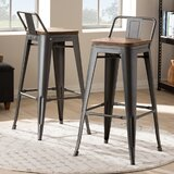 Lafortune 36.22'' Extra Tall Stool (Set of 2) by Williston Forge
