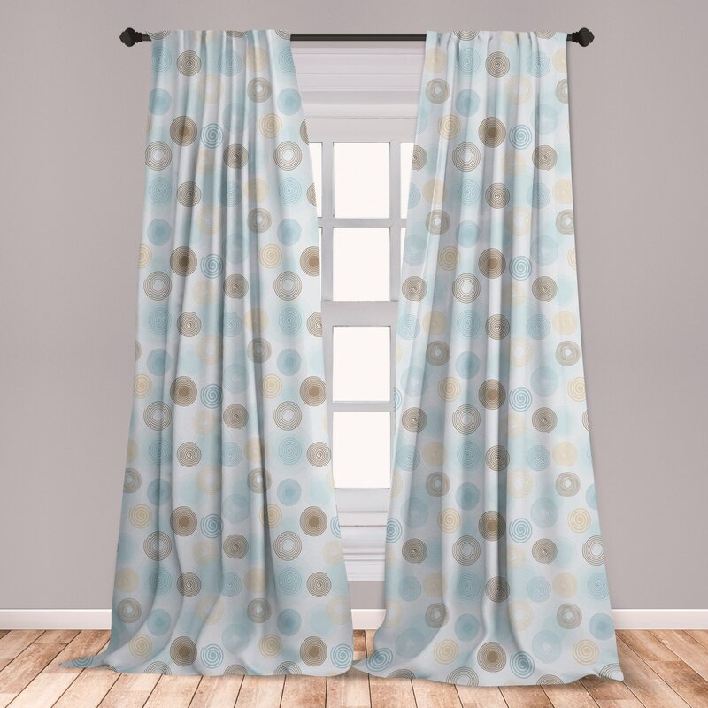 East Urban Home Andromedae Brown And Blue Curtains Twirls Vortex Design Geometric Curved Lines Hypnotic Elements Window Treatments 2 Panel Set For Living Room Bedroom Decor 56 X 63 Pale Blue Mustard,Beautiful Small House Designs Pictures South Africa