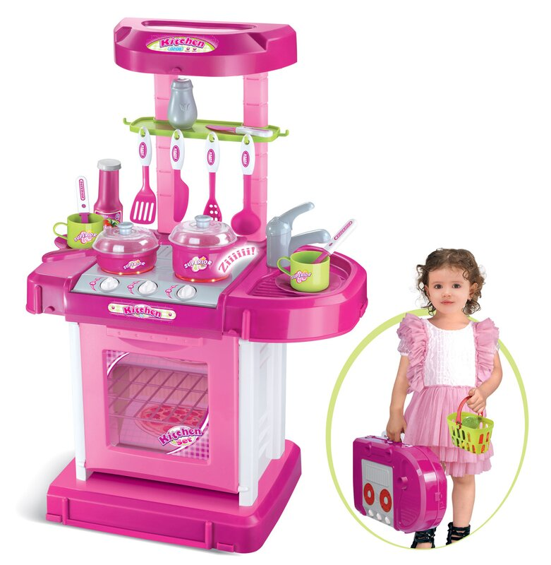 Plastic Play Kitchen berry toys play and carry plastic play kitchen & reviews | wayfair