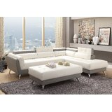 Mercuri Right Hand Facing Sectional with Ottoman by Orren Ellis