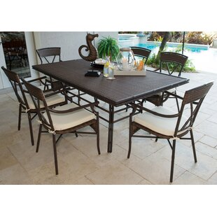 Panama Jack Outdoor Rum Cay 7 Piece Dinin..