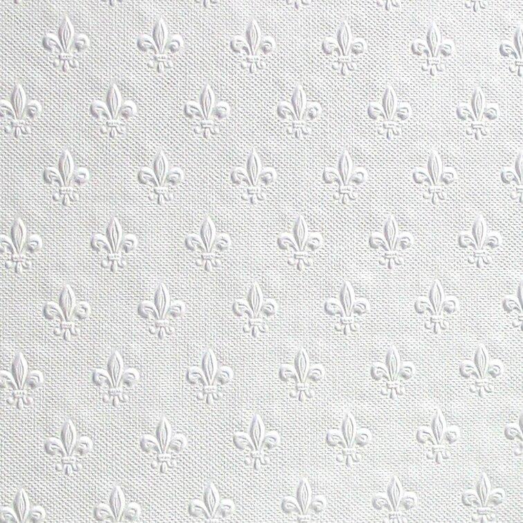 "Anaglytpa Paintable Tudor 33' x 20.5"" Damask 3D Embossed Wallpaper"