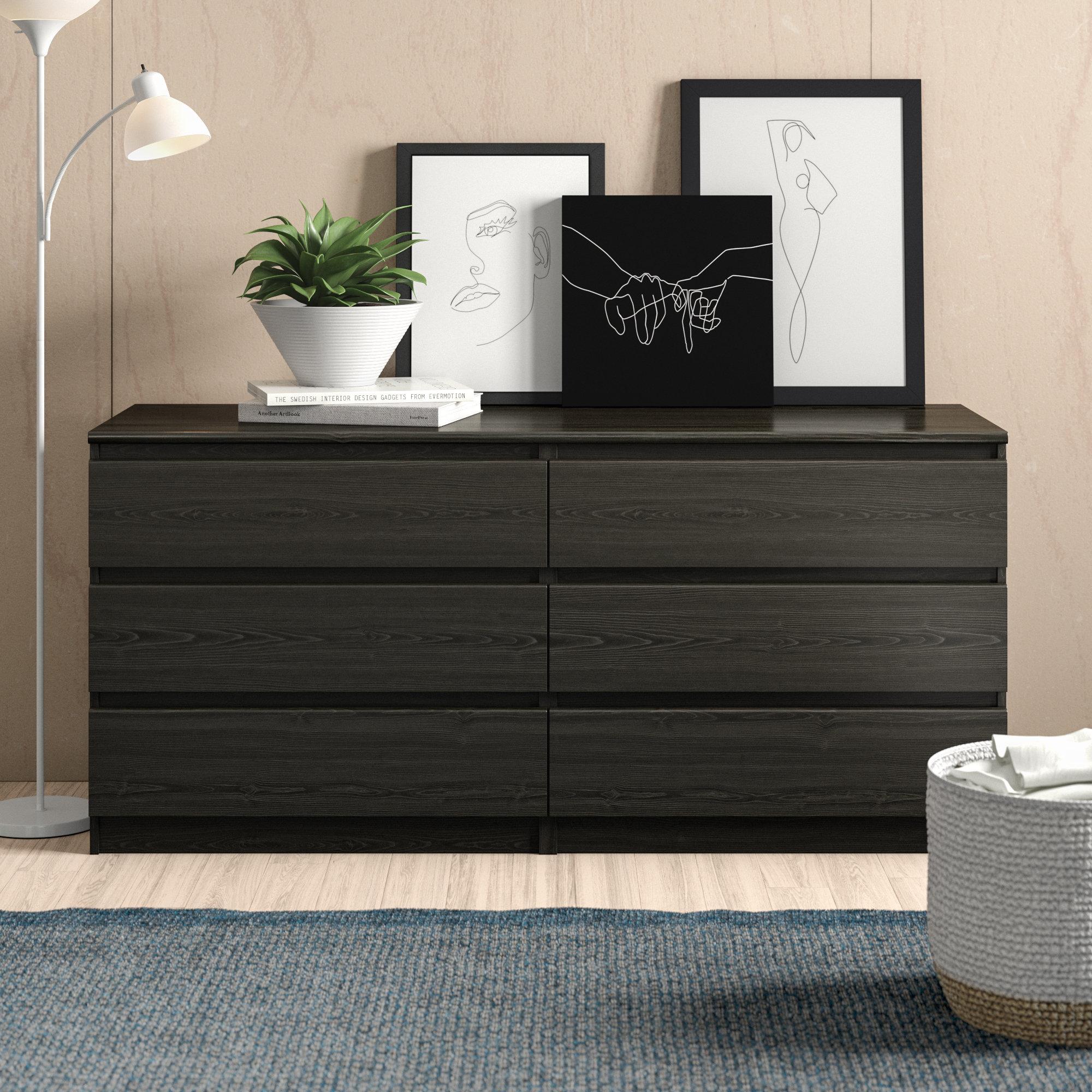Zipcode Design Kepner 6 Drawer Double Dresser Reviews Wayfair