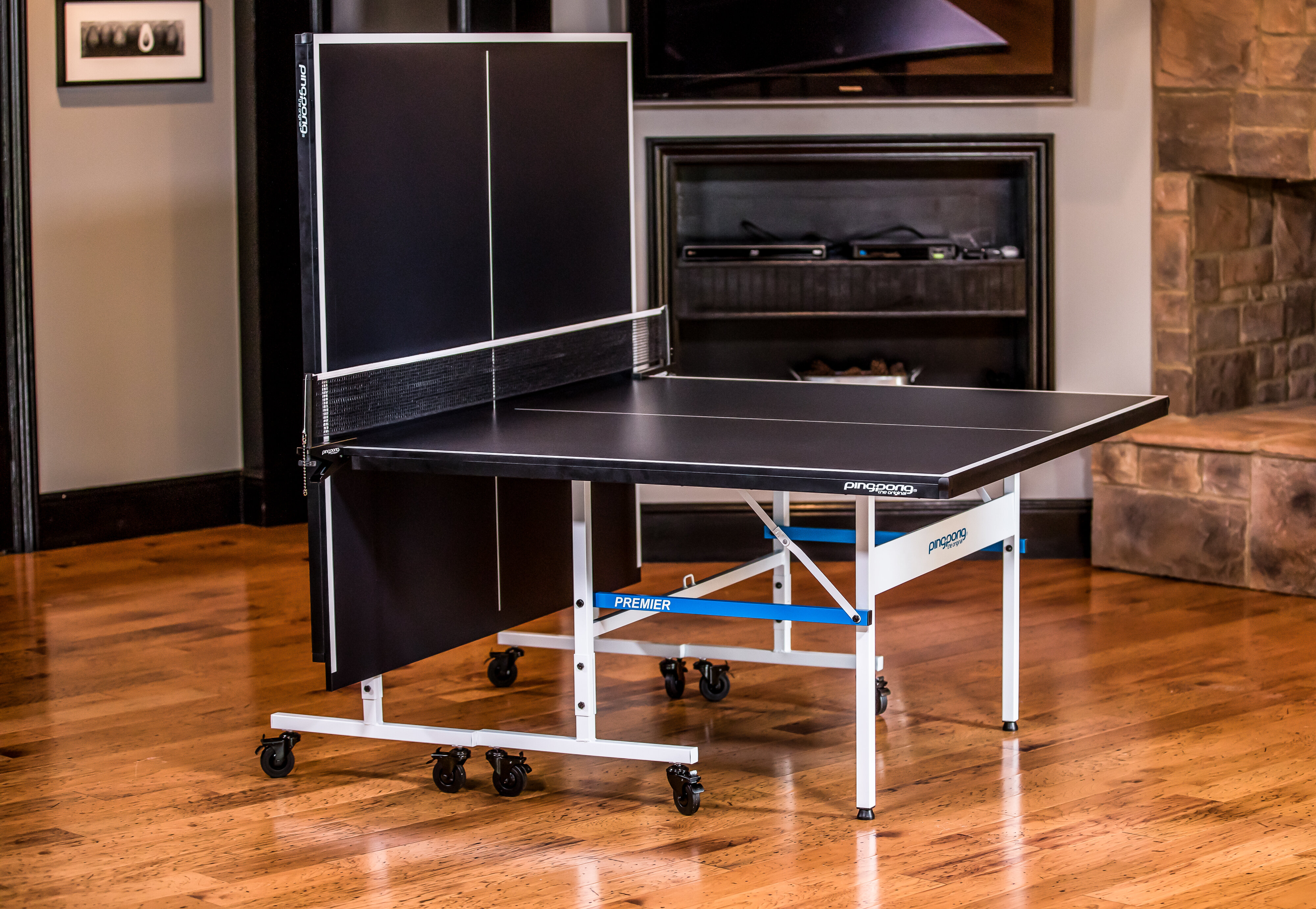 Ping Pong Regulation Size Foldable Indoor Table Tennis Table Wayfair