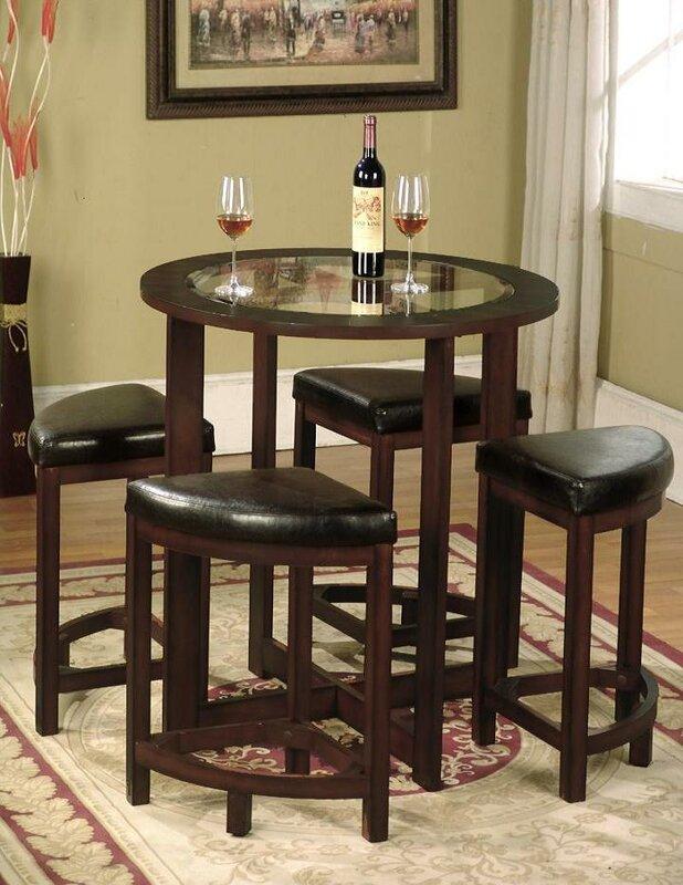 Red Barrel Studio Plumwood Piece Counter Height Dining Set