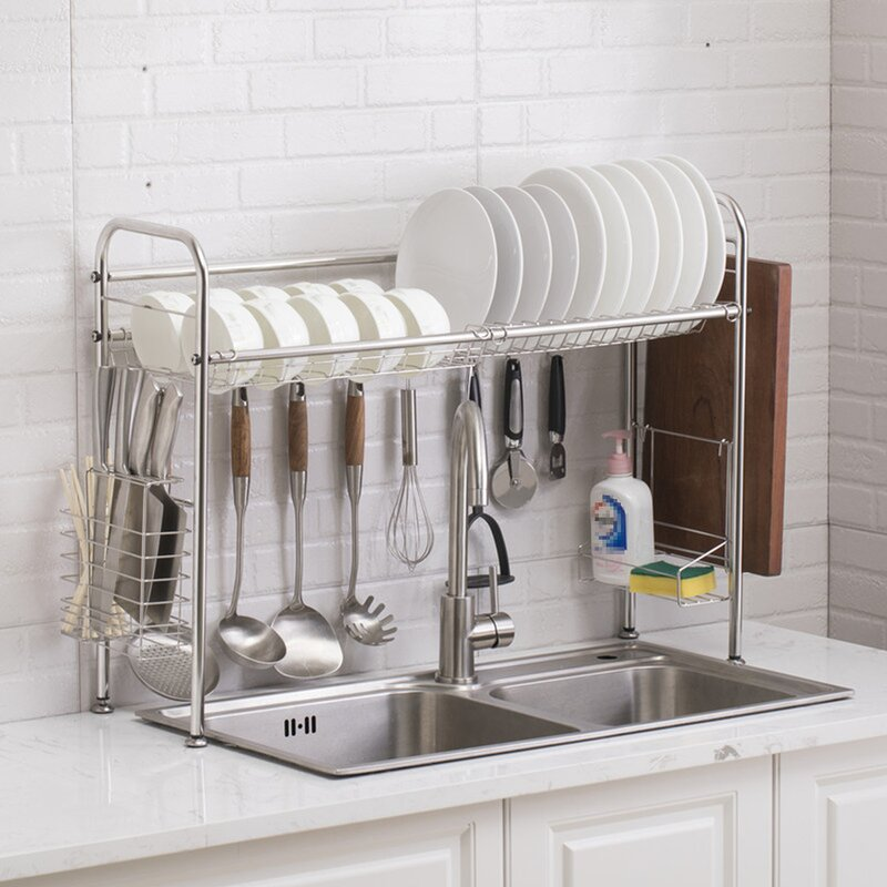 Kingso Stainless Steel Kitchen Over The Sink Dish Rack Wayfair