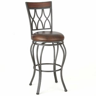 Malinda 24 Swivel Bar Stool Red Barrel Studio
