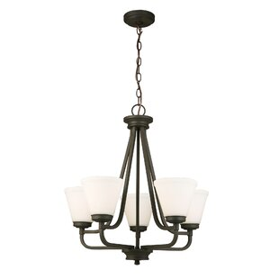 Comparison Cintron 5-Light Shaded Chandelier By Red Barrel Studio