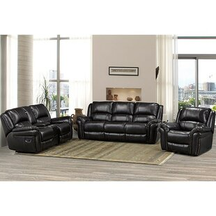 Loughlin 3 Piece Reclining Living Room Set by Red Barrel Studio