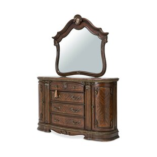Bella Veneto 6 Drawer Dresser with Mirror
