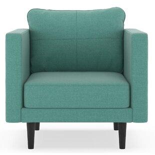 Rocio Linen Weave Armchair by Brayden Studio