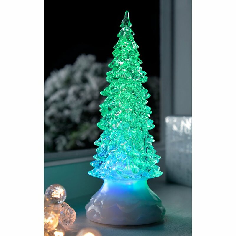 Pre Lit Led Magical Colour Changing Glitter Christmas Tree