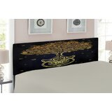 Tree of Life Queen Upholstered Panel Headboard by East Urban Home