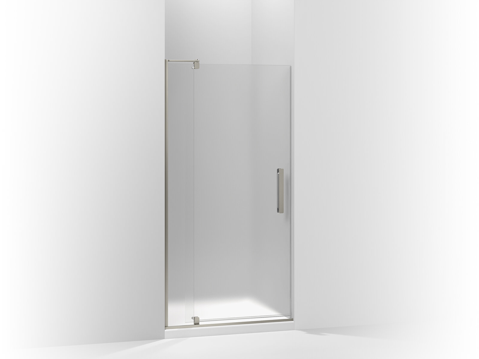 Kohler Revel Pivot Shower Door 70 H X 35 125 40 W With 0 3125 Thick Frosted Glass